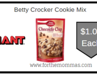 Giant: Betty Crocker Cookie Mix ONLY $1.00 Each Starting 12/6!