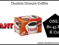 Giant: Dunkin Donuts Coffee Just $0.45 Per K Cup Starting 12/6!