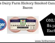 Kroger: Jones Dairy Farm Hickory Smoked Canadian Bacon ONLY $2.50 (Reg $4.19)