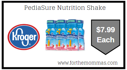 Kroger Mega Sale: PediaSure Nutrition