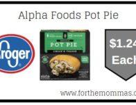 Alpha Foods Pot Pie ONLY $1.24 {Reg $4.19}