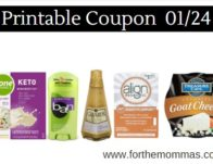 Newest Printable Coupons 01/24: Save On ZonePerfect, Ban, Align & More