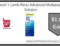 Bausch + Lomb Renu Advanced Multipurpose Solution ONLY $1.99 Starting 2/2