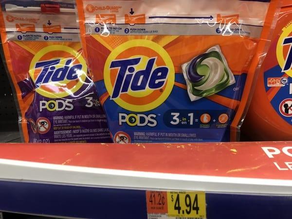 Walmart: FREE Tide Pods Detergent Thru 1/25!