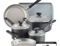 Farberware Cookstart 15-pc. DiamondMax Nonstick Cookware Set ONLY $31.64 (Reg $120)
