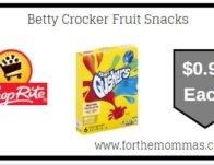 Betty Crocker Fruit Snacks ONLY $0.99 Each Starting 2/16!