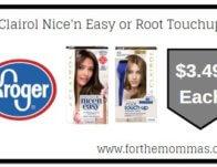 Kroger Mega Sale: Clairol Nice'n Easy or Root Touchup</body></html>