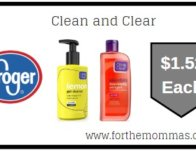 Kroger: Clean and Clear ONLY $1.52