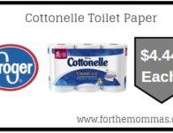 Cottonelle Toilet Paper ONLY  $4.44 (Reg $8.19)