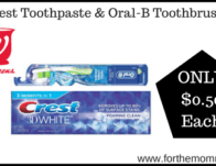 Crest Toothpaste & Oral-B Toothbrush ONLY $0.50 Each Starting 2/16