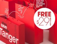 Free $29 Tanger Outlets Gift Card on Saturday
