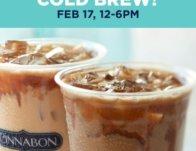 Free Cold Brew Drink at Cinnabon on Feb. 17th