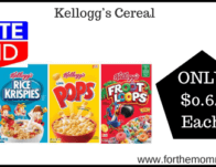 Kellogg's Cereal ONLY $0.64 Each Starting 2/16
