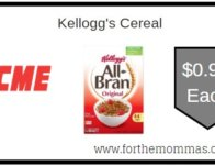 Kellogg's Cereal ONLY $0.99 Each Starting 2/14!