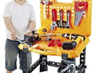 Toy Choi's 100 Pieces Kids Construction Toy Workbench $36.99 {Reg $46.99}