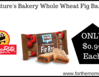 Nature's Bakery Whole Wheat Fig Bars JUST $0.99 Each Starting 2/16!