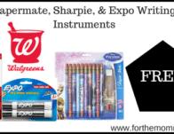Free Papermate, Sharpie, & Expo Writing Instruments Thru 2/29
