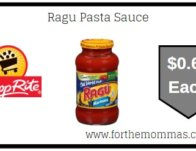 Ragu Pasta Sauce As Low As $0.62 Each Thru 2/15!