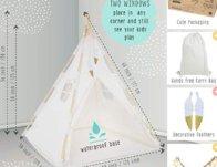 TazzToys Kids Teepee Tent for Kids $42.45 {Reg $80}