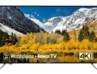 Westinghouse 58″ 4K Smart TV with HDR and Roku TV $279.99