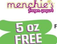 Free Frozen Yogurt at Menchie's