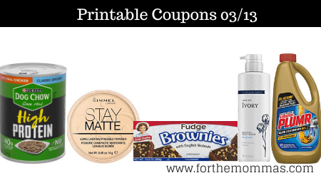 Printable Coupons Roundup 03 13 Save On Clorox Purina Ivory More