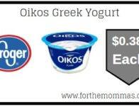 Kroger: Oikos Greek Yogurt ONLY $0.38 {Reg $1.00}