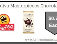 ShopRite: Godiva Masterpieces Chocolates JUST $0.74 Each Starting 5/3! {Rebate}