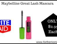 Rite Aid: Maybelline Great Lash Mascara $2.99 St</body></html>