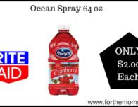 Rite Aid: Ocean Spray 64 oz ONLY $2.00 Starting 5/3