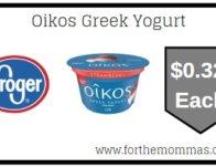 Kroger: Oikos Greek Yogurt ONLY $0.32 {Reg $1.00}