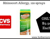 CVS: Rhinocort Allergy, 120 sprays $9.99 Starting 5/3