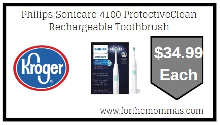 Kroger Philips Sonicare 4100 Protectiveclean Rechargeable Toothbrush Only 34 99