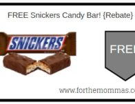 FREE Snickers Candy Bar Thru 11/8! {Rebate}